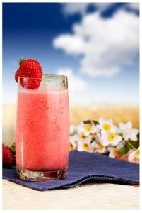 Strawberry-Rhubarb Wine Slushie Canva Photo only